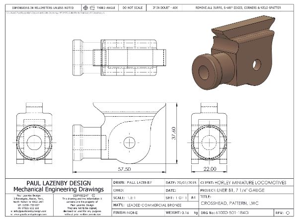 Paul Lazenby Design Mechanical Engineering Drawings